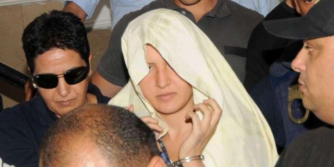 Amina Sbouï, le 5 juin dans un tribunal de Tunis.