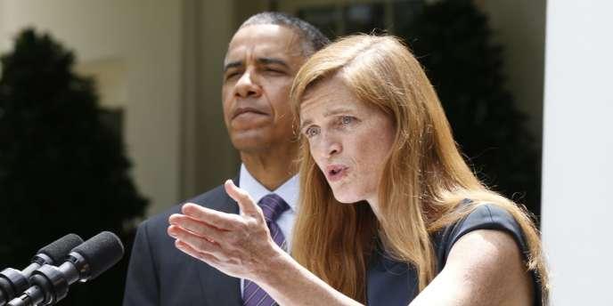 Samantha Power a été nommée par Barack Obama ambassadeur des Etats-Unis auprès des Nations unies, mercredi 5 juin 2013.
