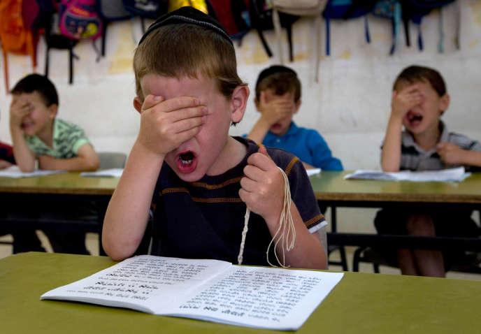 Dans une école ultra-orthodoxe, à Jérusalem, en 2010.