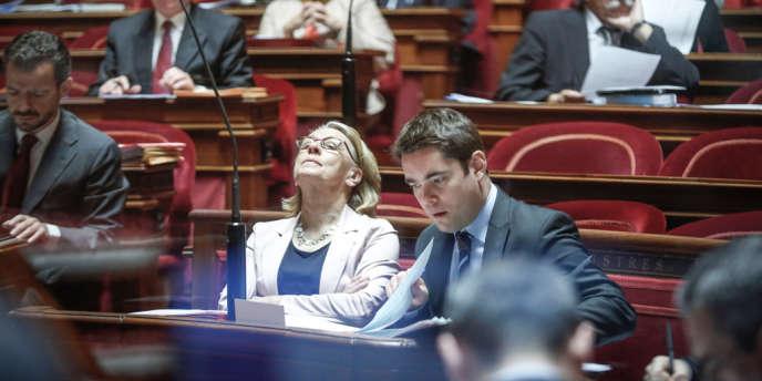 Marylise Lebranchu, ministre de la réforme de l'Etat, de la décentralisation et de la fonction publique, pendant l'examen du projet de loi de décentralisation, au Sénat, en juin.