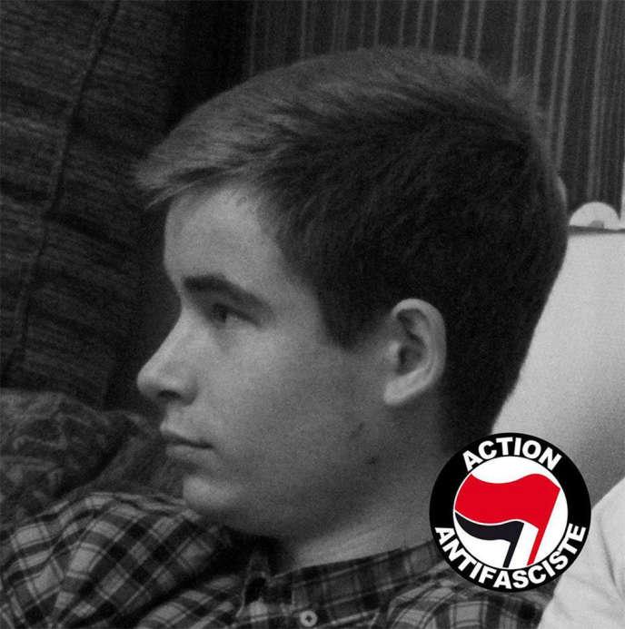 Clément Méric, sur une image diffusée par le compte Facebook d'Action antifasciste, le 6 juin 2013.