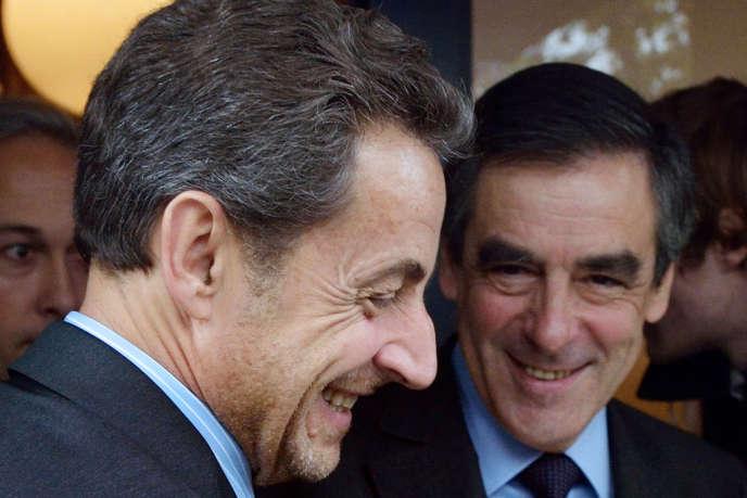 Nicolas Sarkozy et François Fillon, le 24 octobre 2012.
