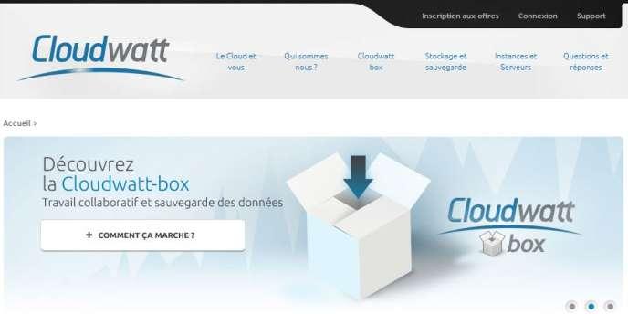 Le site du fournisseur d'infrastructures informatiques et de services à distance Cloudwatt.