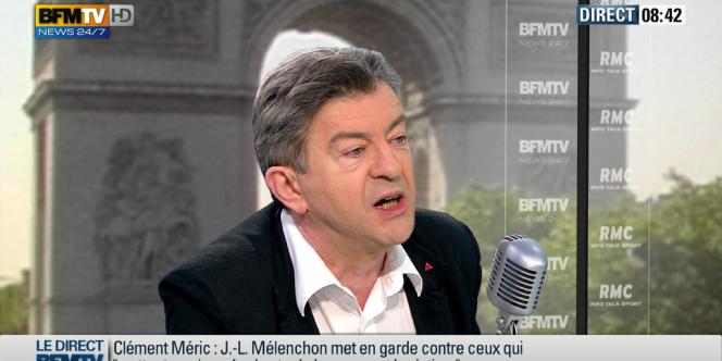 Jean-Luc Mélenchon, à l'antenne de BFM-TV et de RMC, vendredi 7 juin.