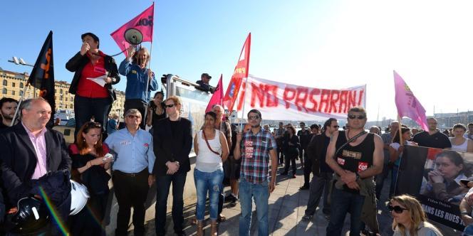 Manifestation en hommage à Clément Méric, le 6 juin à Marseille.