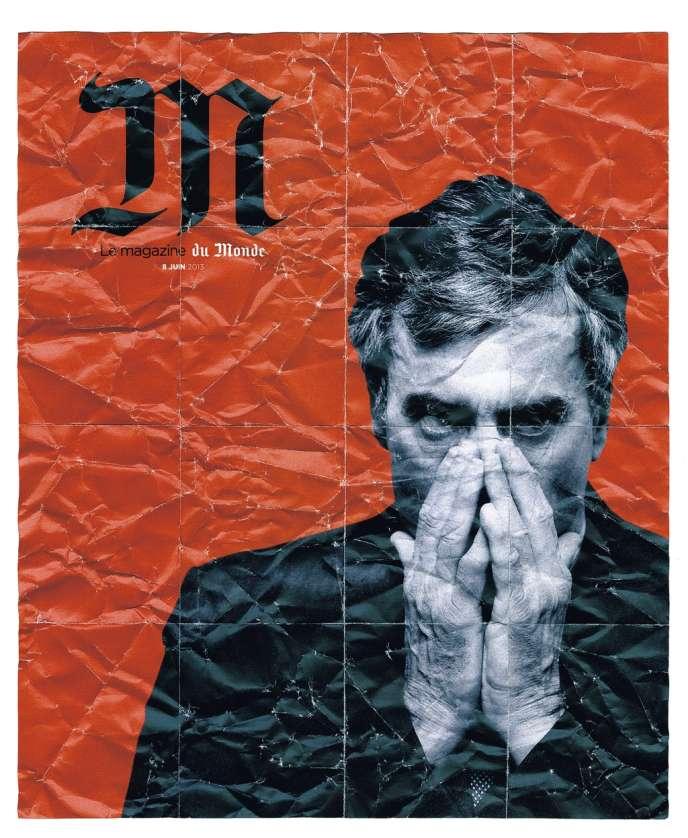 Jérôme Cahuzac, en couverture de «M Le Magazine du Monde» du 8 juin 2013.