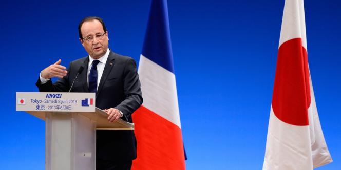 François Hollande à Tokyo, le 8 juin 2013.