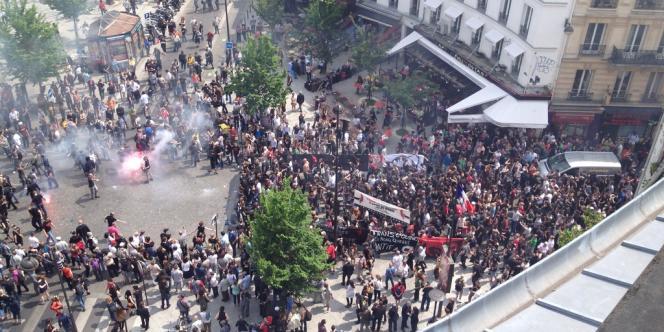 Manifestation en hommage à Clément Méric, entre Bastille et Gambetta le 8 juin.