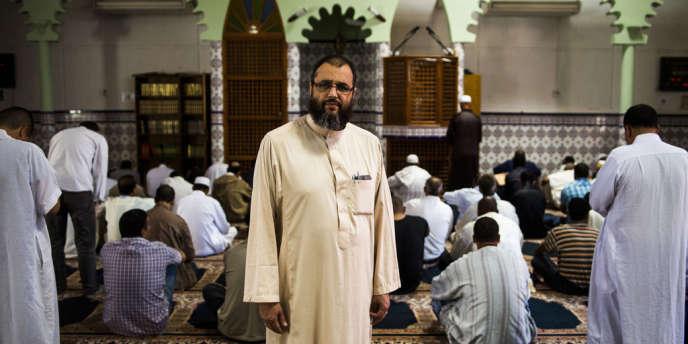 L'imam Mohamed Khattabi à la mosquée Averroès de Montpellier.