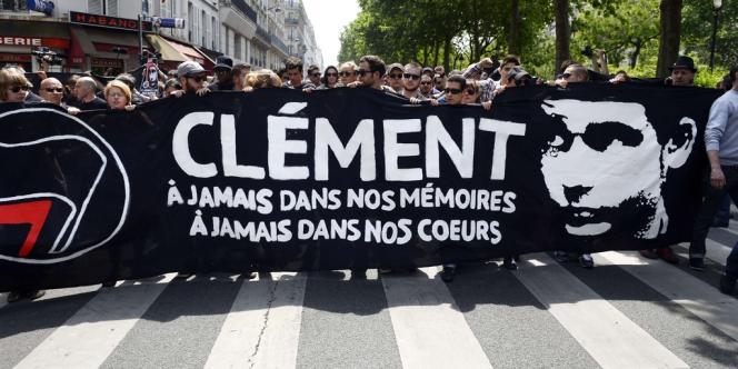 Manifestation en hommage à Clément Méric, le 8 juin 2013 à Paris.