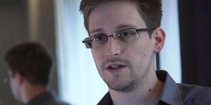 Edward Snowden, lors d'un entretien avec le