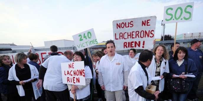 Les salariés de Spanghero, très éprouvés, veulent obtenir de Lur Berri plus d'argent pour accompagner leur plan social.
