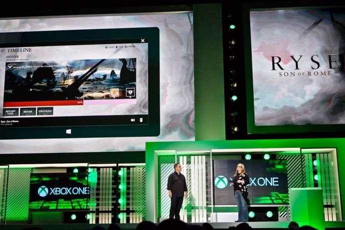 Présentation de l'application Smartglass de Microsoft lors de l'E3 2013 à Los Angeles.