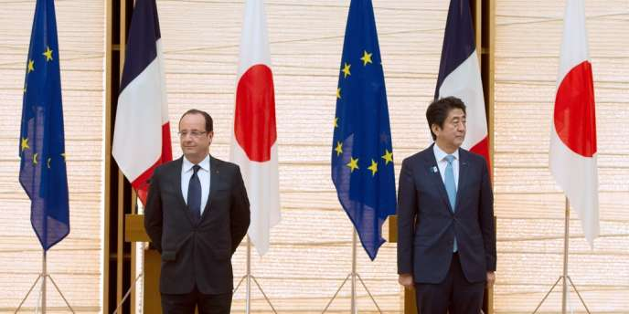 François Hollande et Shinzo Abe à Tokyo, le 7 juin.