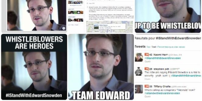 Les internautes se sont rapidement mobilisés pour Edward Snowden.