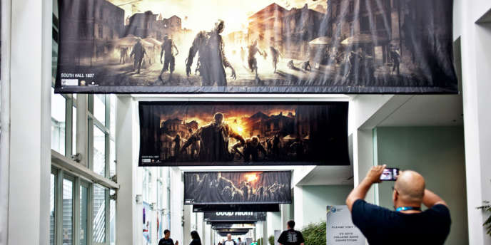 Dans le centre de convention de Los Angeles, le 9 juin, avant le début du salon du jeu vidéo E3.