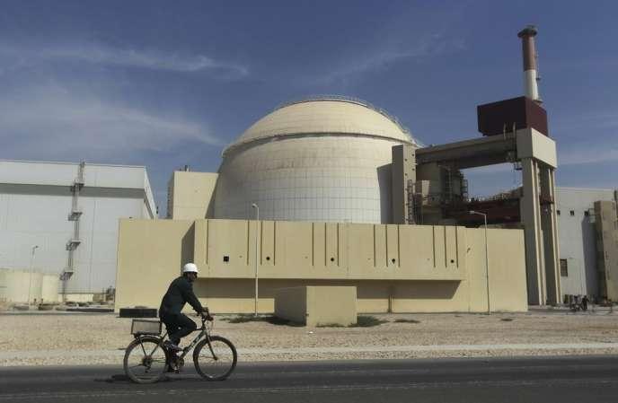 La centrale nucléaire de Bouchehr, en octobre 2010.