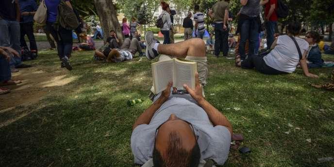 Dans le parc de Gezi, le 30 mai.
