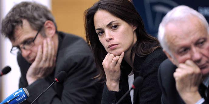 Accompagnée d'une délégation de cinéastes, l'actrice Bérénice Bejo est venue le 11 juin à Strasbourg défendre l'exception culturelle française, menacée par un projet de traité de libre-échange avec les Etats-Unis.