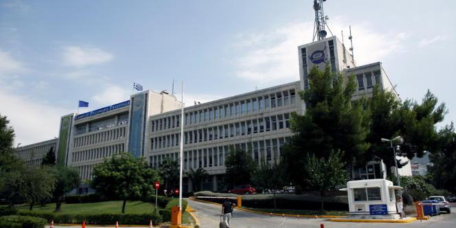 Le bâtiment de la télévision publique ERT, le 19 août 2012 à Athènes.