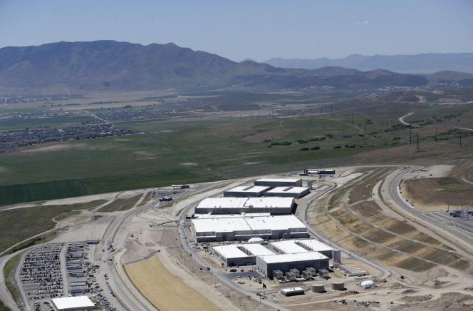 Vue aérienne du futur centre de stockage de données de la NSA à Bluffdale, dans l'Utah, le 6 juin 2013. Le site devrait ouvrir en septembre.