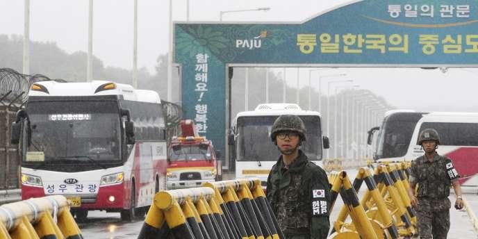A Paju, près de la ville frontière de Panmunjom, entre les deux Corées.