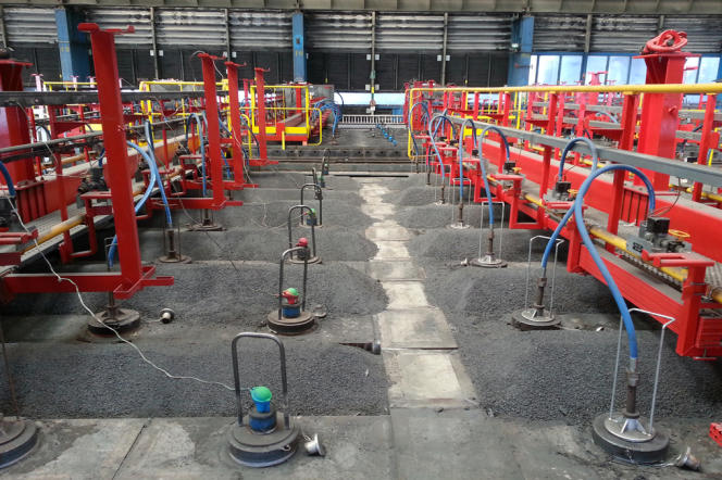 Le nouveau four des anodes à l'usine Rio Tinto Alcan de Dunkerque