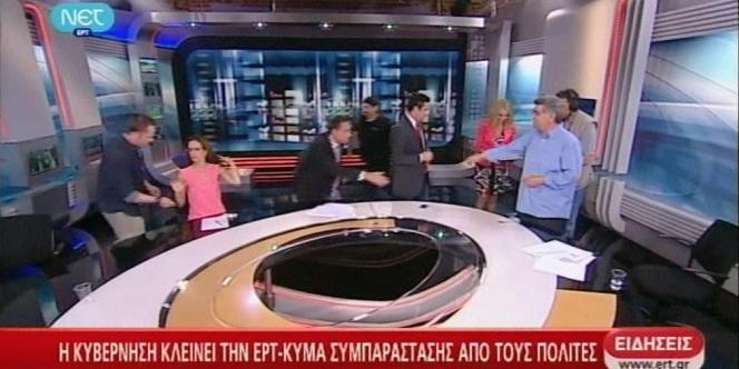 La chaîne de télévision publique grecque ERT a arrêté d'émettre pour des raisons budgétaires par le gouvernement.