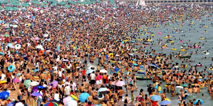 Une plage en Chine.