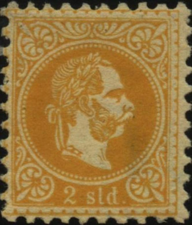L'empereur François-Joseph, timbre-poste du Levant.