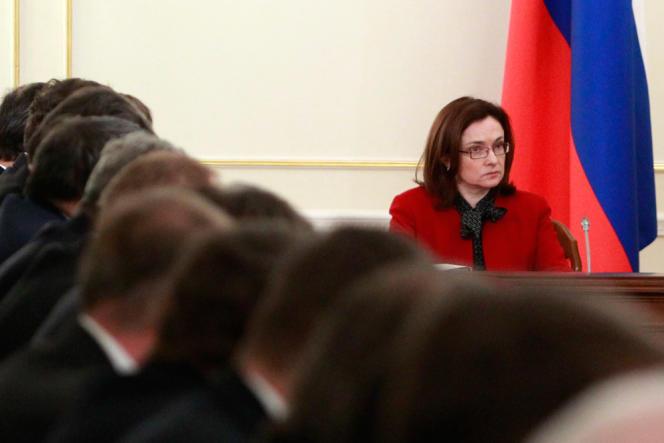 Elvira Nabiullina, présidente de la Banque centrale de Russie, en février 2013.