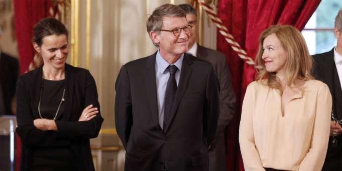 La compagne du chef de l'Etat, Valérie Trierweiler, se dit favorable à l'idée de faire de la lutte contre les violences aux enfants