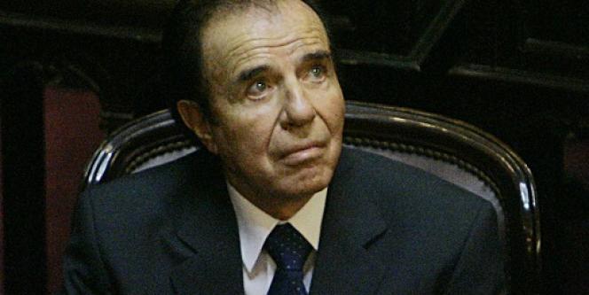 L'ancien président argentin Carlos Menem, en novembre 2005.