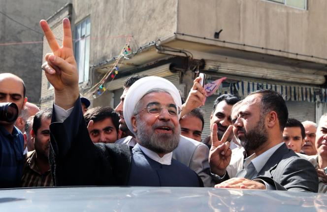 Le nouveau président iranien Hassan Rohani, le 14 juin.