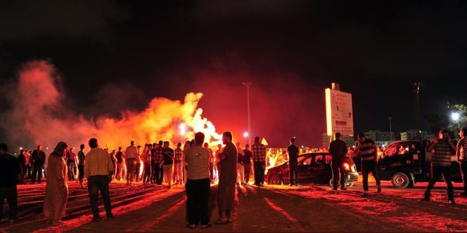 A Benghazi, dans la nuit du 14 au 15 juin.