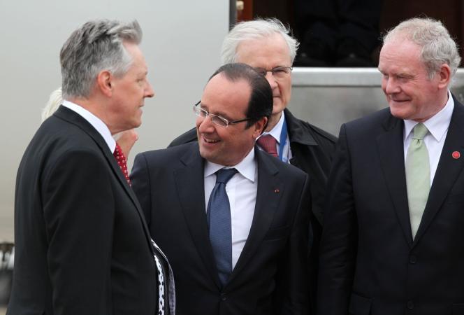 François Hollande, le 17 juin à Belfast.