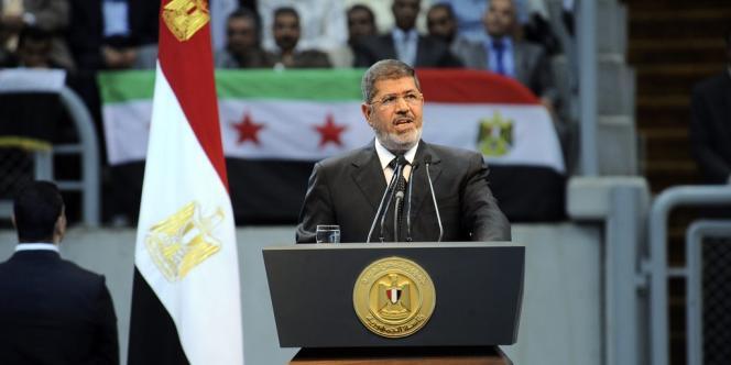 Le président égyptien Mohamed Morsi, au Caire, le 15 juin 2013.