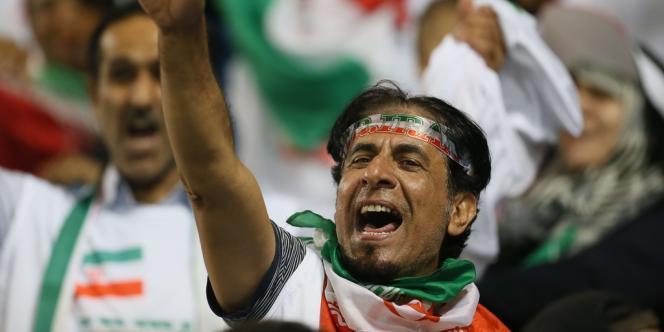 Un supporteur de l'Iran, le 4 juin 2013 à Doha.