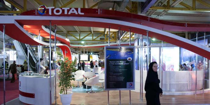 Le stand de Total au salon annuel des hydrocarbures de Téhéran, en 2010.