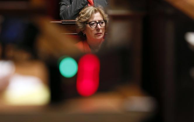 Geneviève Fioraso, alors ministre de l'enseignement supérieur, à l'Assemblée, le 22 mai.