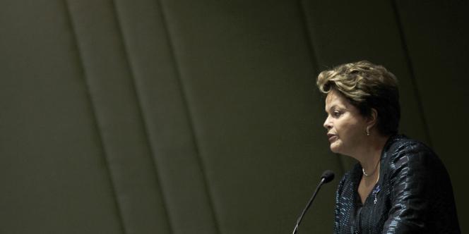 Dilma Rousseff, le 17 juin à Brasilia.