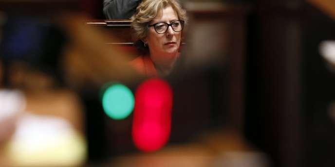 La ministre de l'enseignement supérieur et de la recherche Geneviève Fioraso à l'Assemblée nationale, le 22 mai 2013.