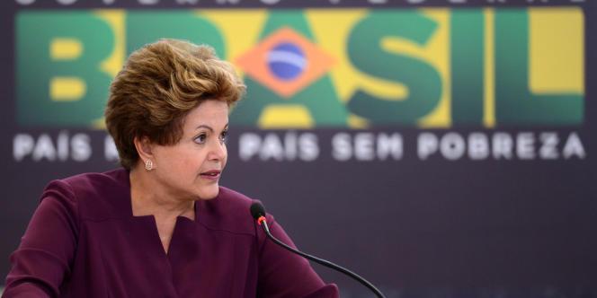 La présidente brésilienne Dilma Rousseff à Brasilia, le 18 juin 2013.