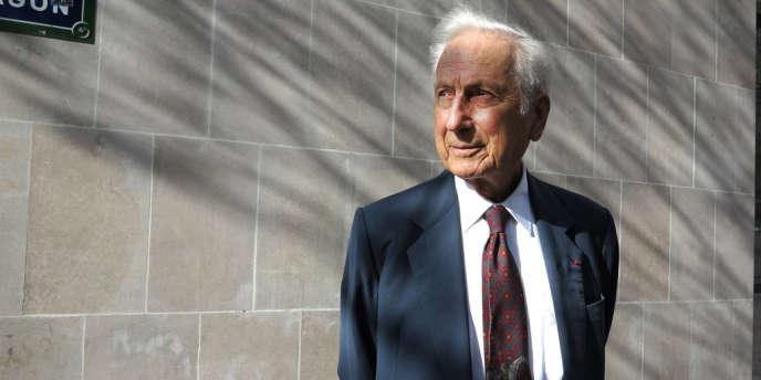 Pierre Estoup, l'un des trois juges qui ont arbitré, en 2008, l'affaire opposant Bernard Tapie au Crédit lyonnais.