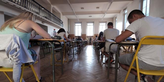 Une épreuve du baccalauréat dans un lycée de Strasbourg, le 17 juin 2013.