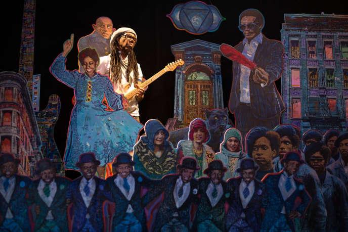 Scénographie de l'artiste Jean-Pierre Muller dans le cadre de sa collaboration avec Nile Rodgers pour