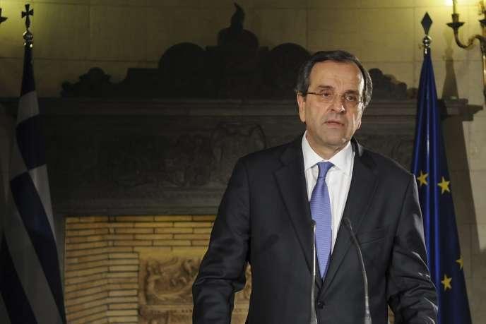 Le premier ministre Antonis Samaras, le 21 juin 2013.