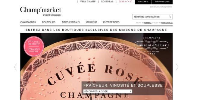 Attirés par le marché de la vente en ligne de vin en expansion, de nombreux acteurs spécialisés sont apparus sur le Net comme Champ'market, ouvert en 2010, qui regroupe une cinquantaine de partenaires et producteurs de champagne.