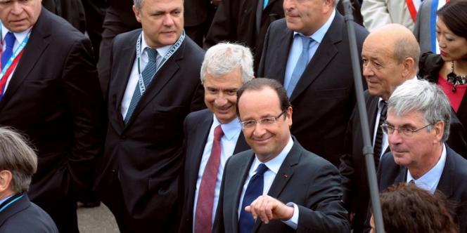 François Hollande en visite au salon du Bourget, le 21 juin.
