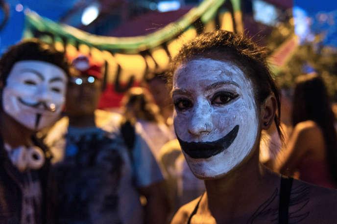 Une jeune manifestante, le 21 juin, à Belo